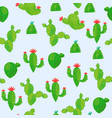 seamless pattern of a variety of abstract cacti on vector image vector image
