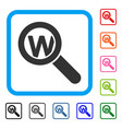 search word framed icon vector image