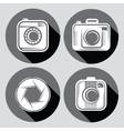 set of hipster cameras or web icons with long vector image