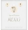special Christmas menu vector image vector image