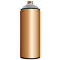 Spray bottle copper vector image vector image