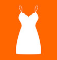 sundress combination or nightie white icon vector image vector image