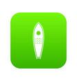 surfboard icon digital green vector image