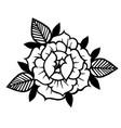 tattoo rose flowertattoo mystic symbol vintage vector image vector image