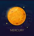 The planet Mercury vector image vector image