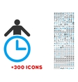 Time Manager Icon vector image