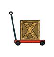trolley hydraulic jack vector image