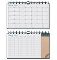 vector calendar template vector image vector image