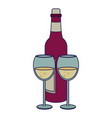 wine and gastronomy concept vector image vector image