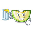with juice cartoon sweet melon slice to dessert vector image vector image
