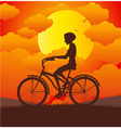 Women riding a bicycle vector image