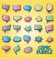 comic collection colored cloud vector image