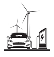 electric car filling station vector image