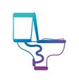 silhouette toilet plumbing equipment service vector image