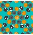 seamless pattern with cartoon sleeping cats vector image