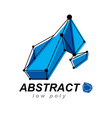 3d origami abstract mesh object abstract design vector image