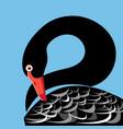 a large portrait a black swan vector image vector image