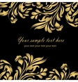 Abstract gold floral background vector image vector image