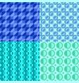 abstract repeating pattern set - circle design vector image vector image