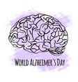 alzheimer day world medicine event vector image
