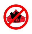 bactrian camel in circus prohibited vector image