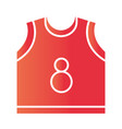 basketball game jersey equipment template vector image vector image