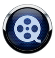 Blue honeycomb movie icon vector image vector image