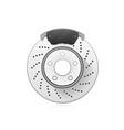 brake block car wheel auto disc brake vector image vector image