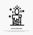 candle light wedding love line icon vector image