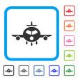 cargo aircraft framed icon vector image vector image