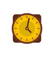 clock retro icon flat style vector image vector image