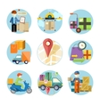 Concept of services in delivery goods vector image vector image