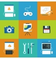 Creative process icons set vector image vector image