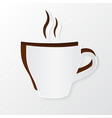 Cup of coffee cut out of paper vector image