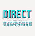 decorative 3d font letters and numbers vector image