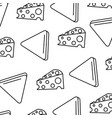 delicious cheese with nachos pattern background vector image