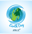 ecology world with celebrated earth day text vector image vector image