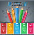 education infographic five items business vector image vector image