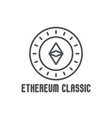 etherium classic thin line icon vector image vector image