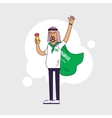 Fan of Saudi Arabia national football team sports vector image vector image