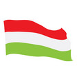 flag of hungary vector image