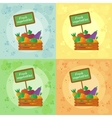 fresh vegetables all seasons vector image vector image