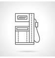 Fuel station flat line design icon vector image