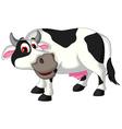 Funny cow cartoon posing vector image