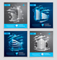 futuristic buildings ads set modern architecture vector image vector image