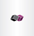 geometric box icon design vector image vector image