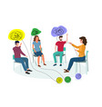 group psychotherapy concept for web banner vector image vector image