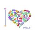 I love pills Heart symbol of medicine medi vector image vector image