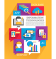 Information Technologies Poster vector image vector image
