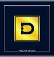 initial letter d logo template design vector image